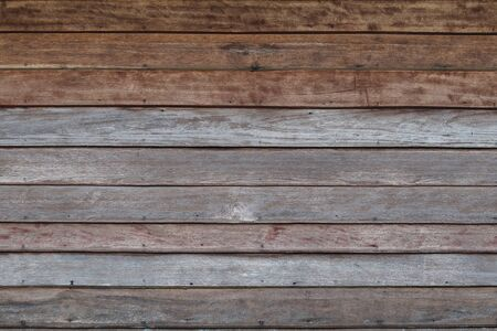Old wooden wall texture abstract background objects for furniture.wooden panels is then used horizontal taken from old home wall in asia