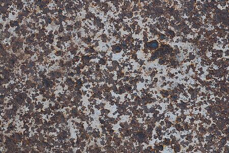 Rusty metal panel texture for background design