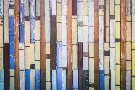 Colorful old wood wall wooden material texture background vintage wallpaper. Stock fotó
