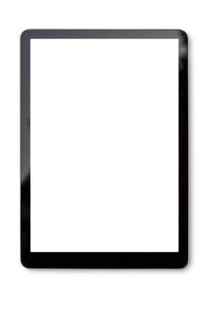Digital tablet mock up on white background with Clipping path