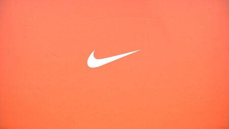 BANGKOK, THAILAND - January 2020 : Nike brand logo on the box of shoes. Nike American company, a world-renowned manufacturer of sports clothing and footwear Editorial