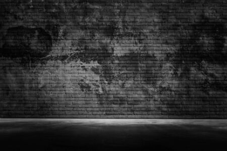 Old grunge dark wall with light black gray cement wall floor texture background A Lot of Space for Text Composition art image, website, magazine design blackdrop. Stock fotó