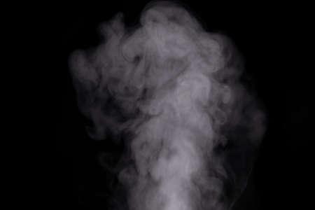 White smoke over black background for overlay design