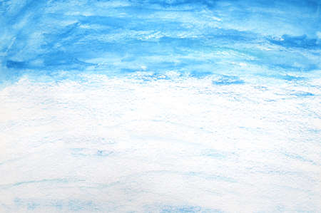 Abstract blue painted watercolor background design texture