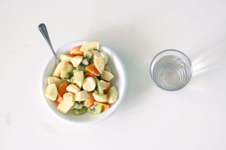 Bowl of fruit salad. photo