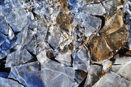 ice and mud Stock Photo