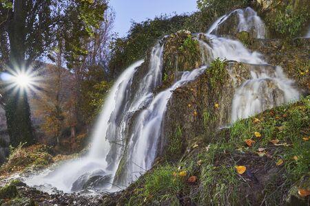 Waterfall in Cuevas de Becerro, Malaga. Spain Reklamní fotografie