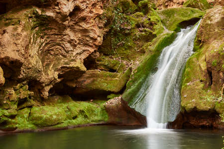 Popea baths in Cordoba. Natural site with waterfall. Andalusia, Spain