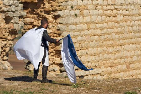 historical recreation of the days of Sir James Douglas in the castle of Teba, Malaga. Spain Banque d'images