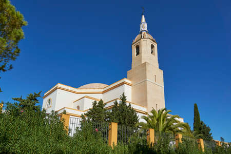 Church of our Lady of Virtudes in Cazalla de la Sierra, province of Seville. Andalusia, Spain