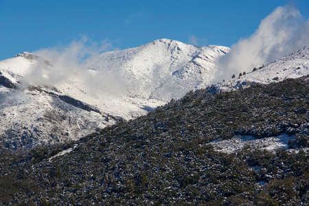 Torrecilla Peak in the Sierra de las Nieves National Park in the municipal district of Igualeja in Ronda, Malaga province. Andalusia, Spain
