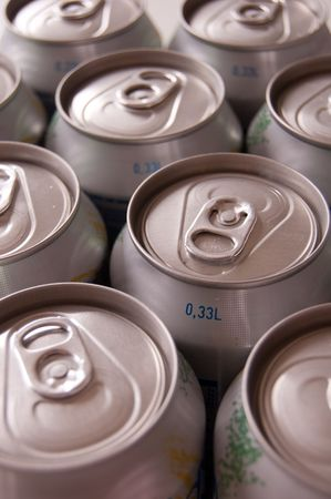 dring: a small collection of cans with soft dring Stock Photo