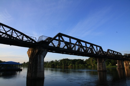 The old bridge,Thailand photo