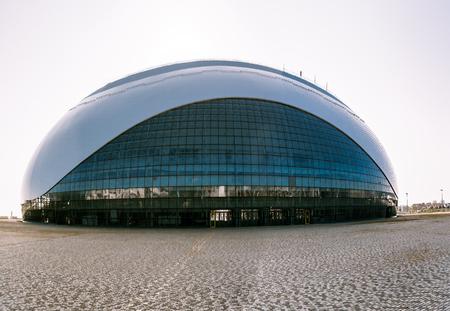 El Gran Palacio de Hielo en Sochi Editorial