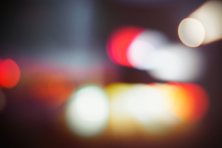 Unfocused photograph of real night city lights