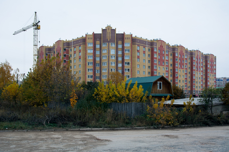 Old and new residential area