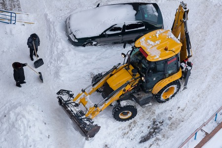 Cleaning the effects of snow