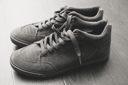 Men's shoes, men's fashion life.boots. Monochrome concept.