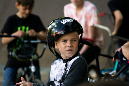 Little bmx rider Editorial