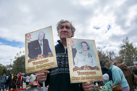 Participant of the action Immortal regiment