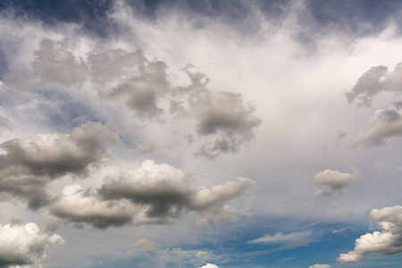 Clouds with blue sky for use a design Imagens