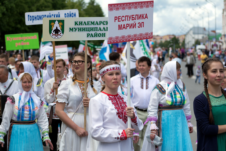Women in national Mari dresses