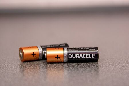 Yoshkar-Ola, Russia - November 2019 Duracell is an American brand of batteries and smart power solutions manufactured by Procter & Gamble.