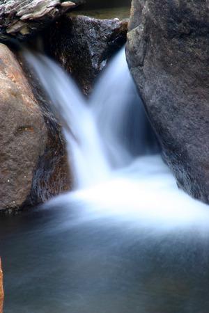 cascade: Small cascade with rocks Stock Photo