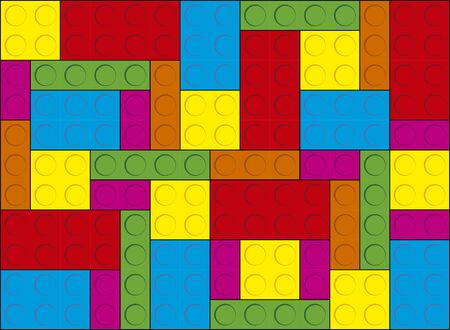 Background Toy Block Coloful in vector. Creative design for websites.