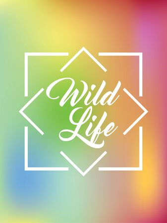 Vector Wild Life Colorful Background