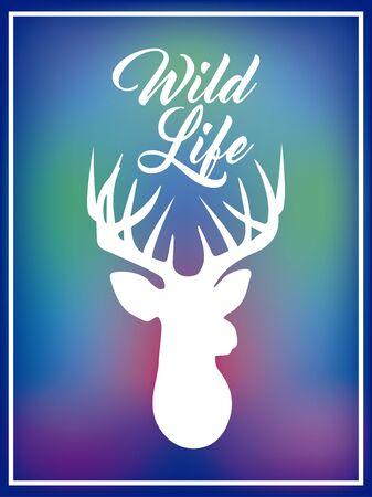 blurred background wild life deer concept. Ilustracja