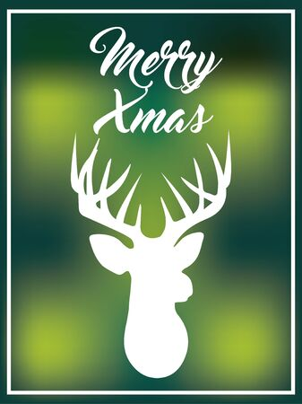 Blurred background xmas deer. Background concept. Ilustracja