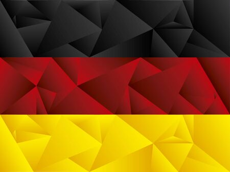 Flag of Germany, low poly art. Concept and isolated art.