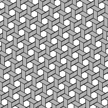 Vector pattern. Modern monochrome texture. Repeating abstract background. Trendy design with geometric shapes. Stylish hipster print which can be used for cover, card, stencil etc