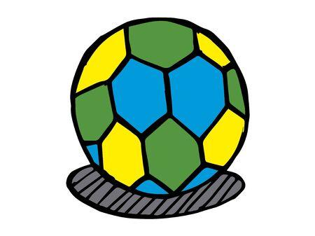 Vector illustration of a soccer.