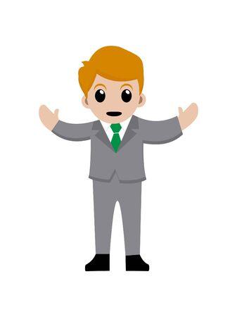 Business man cartoon character. vector illustration Standard-Bild - 146385247