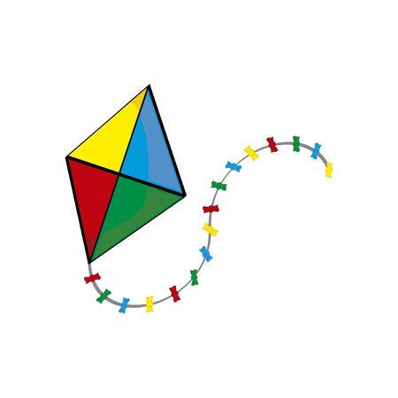 bright kite isolated, flat style vector illustration Иллюстрация