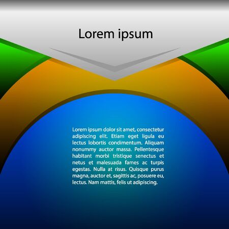 Background Brazilian Colors. infographic inspired in brazilian flag, perfect art.