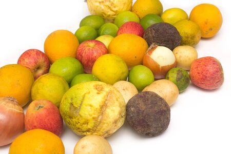 Assortment of exotic fruits isolated on white Archivio Fotografico
