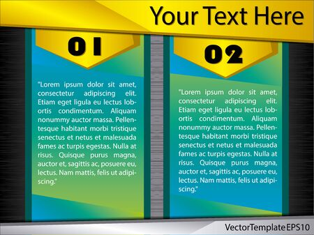Infographic with realistic metallic texture. Vector in high quality. Colorful. Vector Illustratie