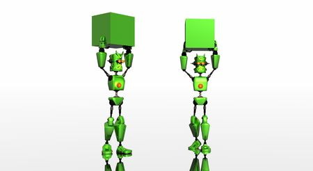 bot: green bot with boxes