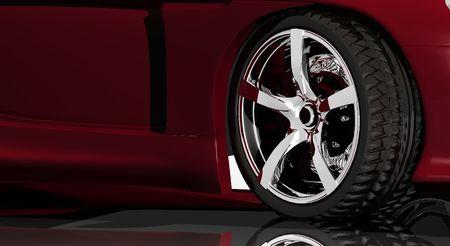 car wheel chrome