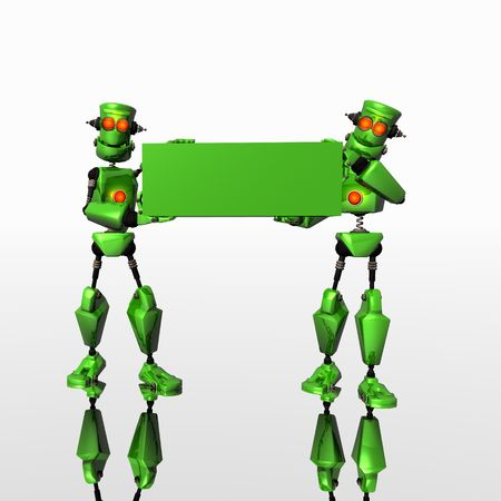iron fun: green bots and banner