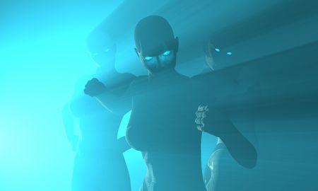 female cyborg Stock Photo - 3777986