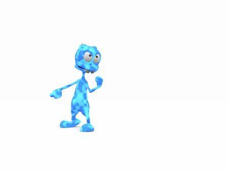 cartoon alien Stock Photo