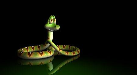 confusing: cartoon snake Stock Photo