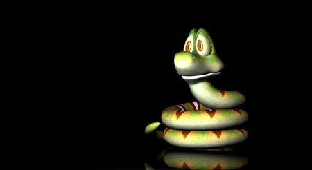 cartoon snake Stock Photo