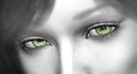 killer eyes Stock Photo
