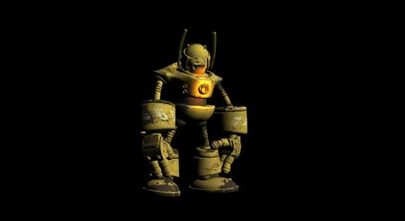 alive: worker robot Stock Photo