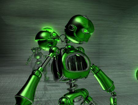 robot with an attitude Stock Photo - 3821510